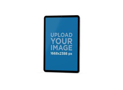 Mockup of an iPad Pro Floating in a Plain Color Background 78-el