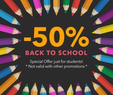 Back To School Savings Facebook Post Template 622g