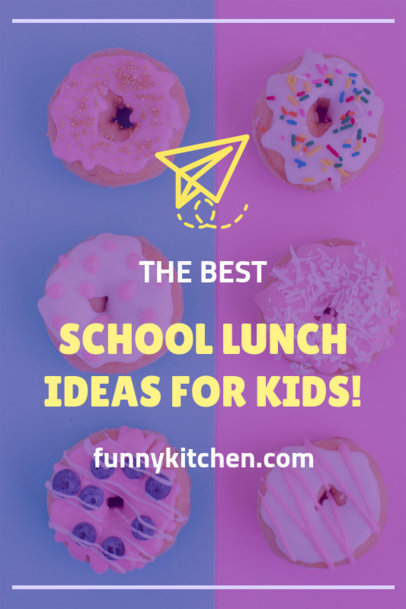 Pinterest Pin Maker of School Lunch Ideas