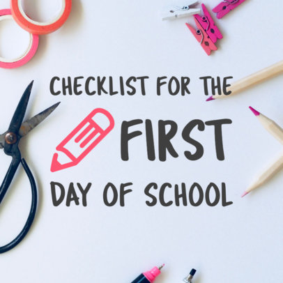 Pinterest Pin Maker of Back To School Checklist 564g