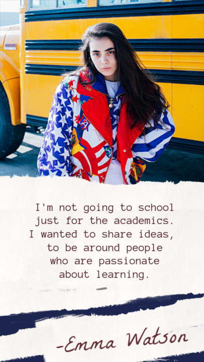 School Quotes for Students Instagram Story Template 607h