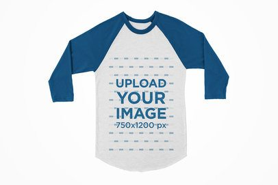 Mockup of a Long SleevRaglan Tee with a Solid Color Background 120-el