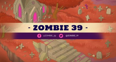Twitch Banner Generator with a Fantasy Zombie Graveyard 1454b