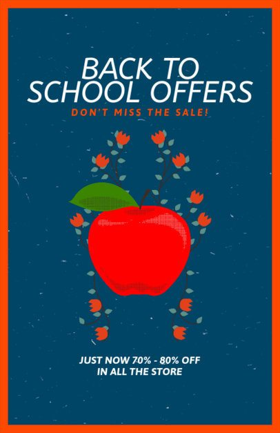 Back to School Flyer Template Featuring an Apple 192g
