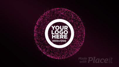 Logo Reveal Intro Maker with Abstract Sparkling Particles 1707
