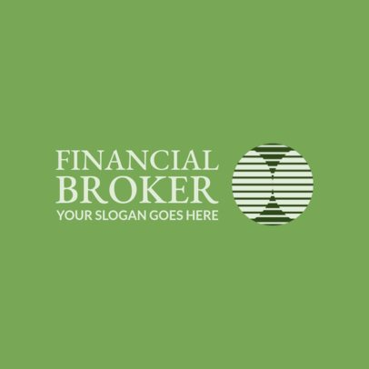 Online Logo Generator for Financial Brokers 1160g