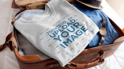 Video of a T-Shirt Inside an Open Suitcase 13078