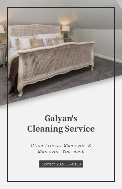 Flyer Maker for Home Cleaning Services 295c