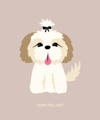 Pets T-Shirt Maker with a Little Dog Illustration 1415f