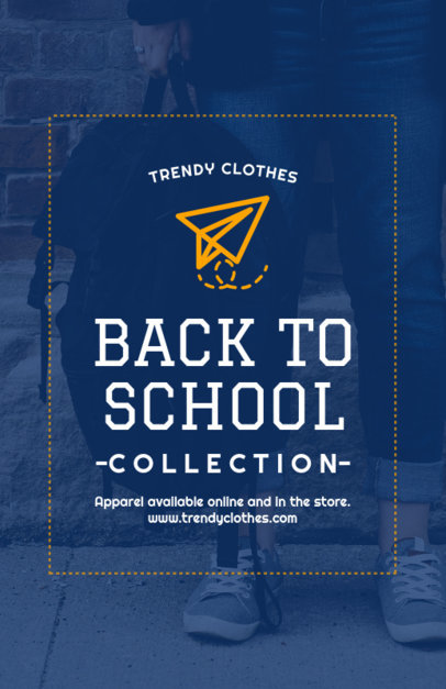 Flyer Template for Back-To-School Season Apparel 504f