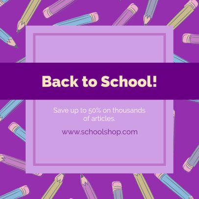 Instagram Post Creator with a Back-To-School Motif 1104f
