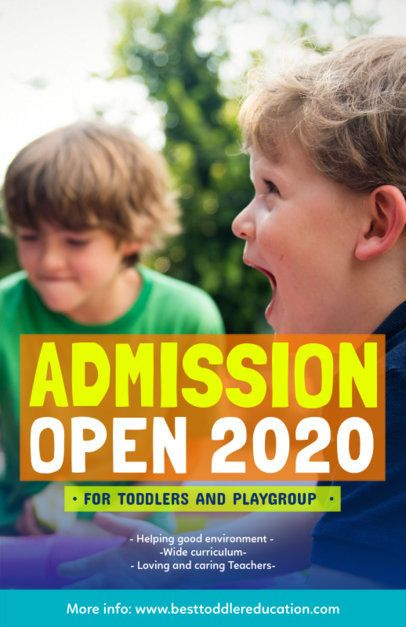 Online Flyer Maker for a Back-To-School Admissions Opening 222f