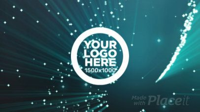 Logo Intro Maker with Dazzling Particles Spinning 1709
