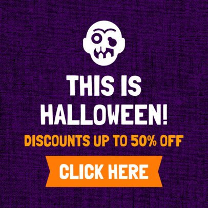 Spooky Banner Template for a Halloween Discount 755g