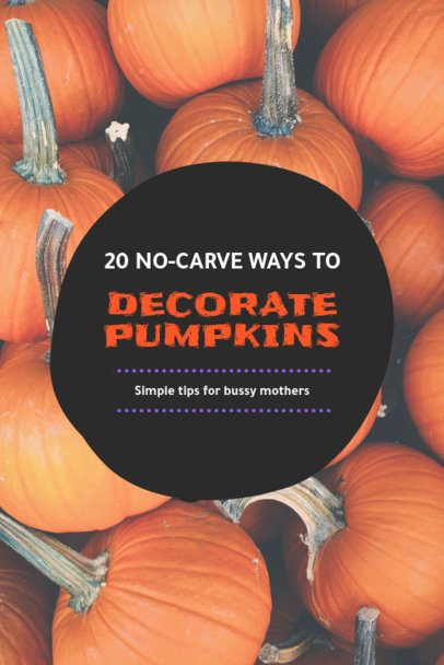 Simple Halloween-Themed Pinterest Pin Maker 651f