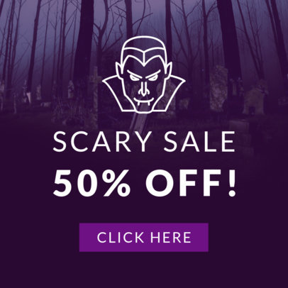 Halloween Online Banner Maker with a Vampire Graphic 753g