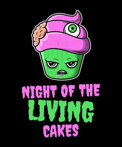 Halloween T-Shirt Design Maker Featuring Kawaii Food Monster Drawings 1563