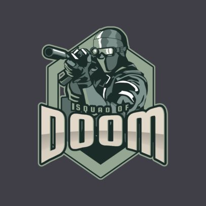 Gaming Logo Maker with a Sniper Illustration 1749j