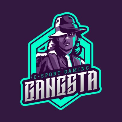 Gaming Logo Maker Featuring a Gangster Woman Character 1743h