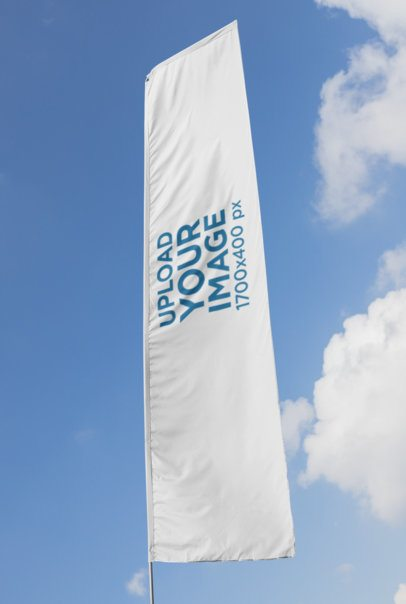 Flag Banner Mockup of a Flag in the Wind 28020