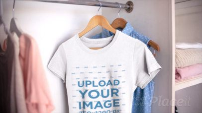 Video of a T-Shirt Close-Up in a Girly Closet 13077