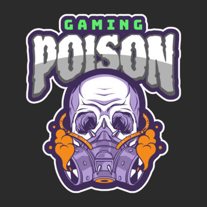 Gaming Logo Maker Featuring a Skull with a Gas Mask 120g