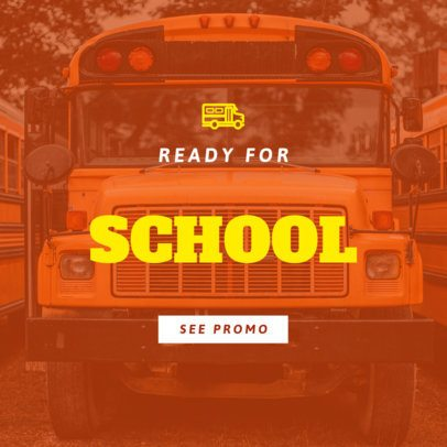 Online Banner Generator with a School Bus 754h