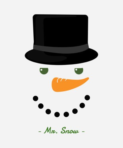 Funny Christmas Tee Design Template with Snowman Illustrations 826dFunny Christmas Tee Design Template with Snowman Illustrations 826d