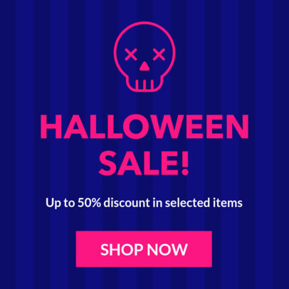 Halloween-Themed Ad Banner Template for a Sale 16614l