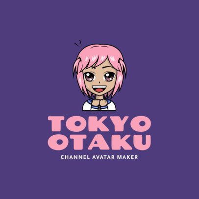 Avatar Logo Maker with a Happy Anime Cartoon 2293e
