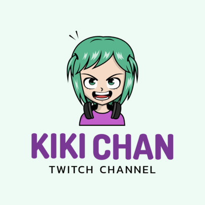 Avatar Logo Template for Anime Gamers 2293h