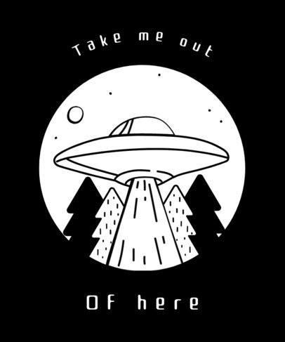 UFO Design T-Shirt Template 437b