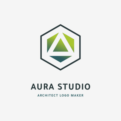 Architecture Firm Logo Creator with an Abstract Icon 1420f