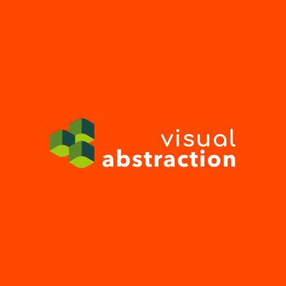 Logo Maker for a Digital Marketing Agency with an Abstract Illustration 2232g