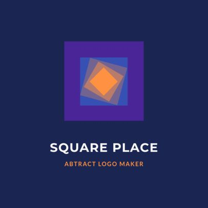 Abstract Logo Template with Overlapping Squares 2297d