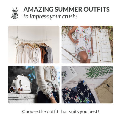 Instagram Post Template for a Summer Fashion Offer 1588