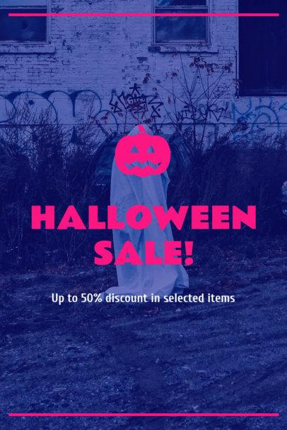 Pinterest Pin Maker for a Brand's Halloween Sale 1121n