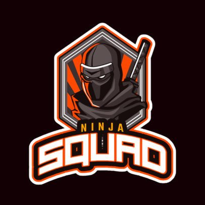 Gaming Logo Maker for a Ninja Squad 523g