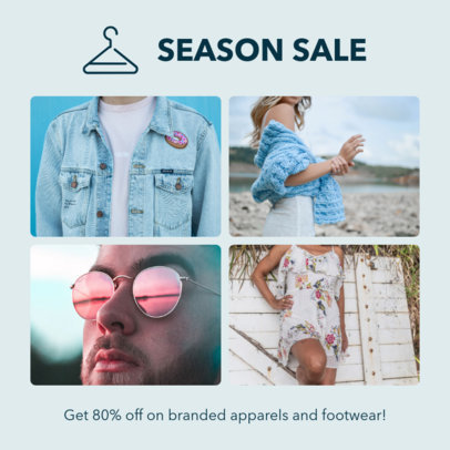 Instagram Post Template for a Clothing Brand Sale 1588c