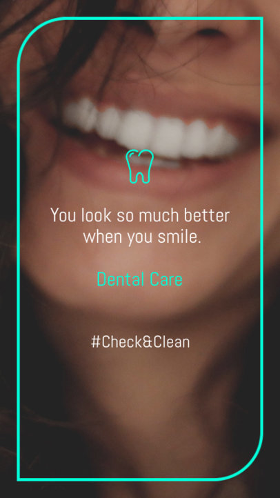 Instagram Story Template with a Dental Health Theme 1600n