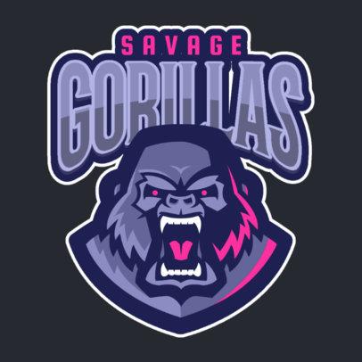 Logo Maker Featuring a Ferocious Gorilla 120h-2332