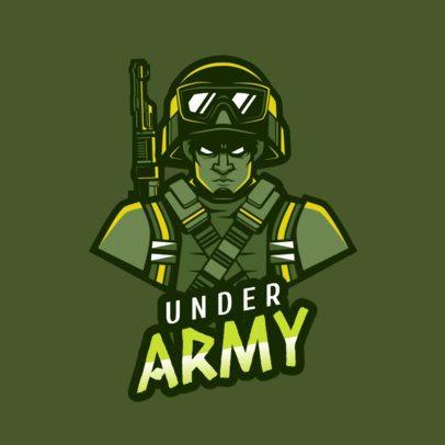 Sniper Soldier Graphic Logo Maker 1747m-2286