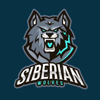 Team Logo Maker of a Ferocious Wolf 383k-2332