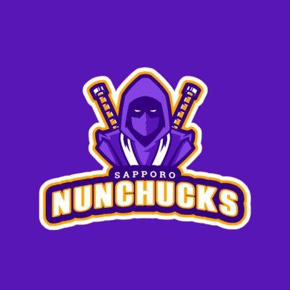 Dark Ninja Logo Generator for a Gaming Squad  245i-2314