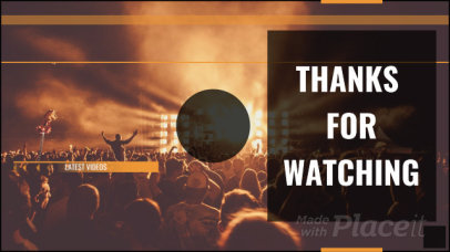 Youtube End Screen Video Creator with a Concert in the Background 1619a-1189