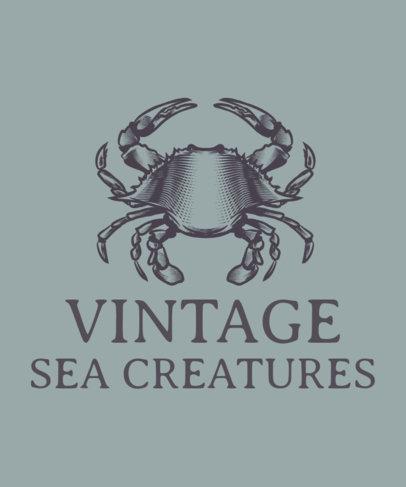 T-Shirt Design Maker Featuring Marine Animals 1598