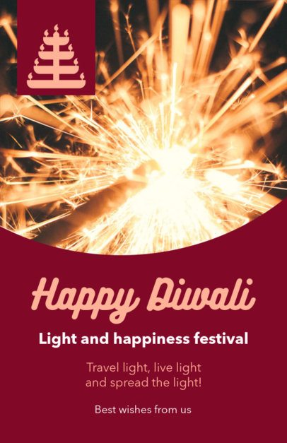 Flyer Maker for a Light and Happiness Festival Invitation 1610j