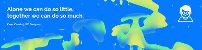 LinkedIn Cover Creator with Neon Design 1596b