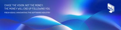 LinkedIn Banner Creator with an Abstract Design 1596h