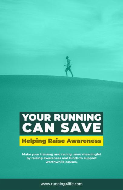 Online Flyer Maker for an Awareness Run 129f-1605